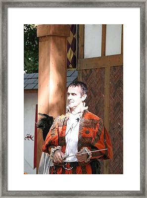 Maryland Renaissance Festival - Johnny Fox Sword Swallower - 121227 Framed Print by DC Photographer