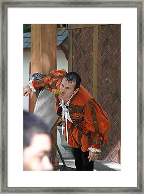Maryland Renaissance Festival - Johnny Fox Sword Swallower - 121252 Framed Print by DC Photographer