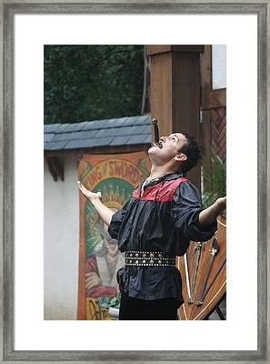 Maryland Renaissance Festival - Johnny Fox Sword Swallower - 121265 Framed Print by DC Photographer