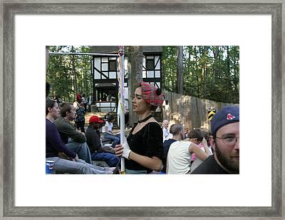 Maryland Renaissance Festival - Johnny Fox Sword Swallower - 121276 Framed Print by DC Photographer