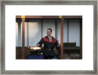 Maryland Renaissance Festival - Johnny Fox Sword Swallower - 121282 Framed Print by DC Photographer