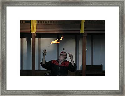 Maryland Renaissance Festival - Johnny Fox Sword Swallower - 121287 Framed Print by DC Photographer