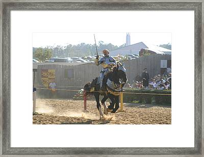 Maryland Renaissance Festival - Jousting And Sword Fighting - 1212154 Framed Print by DC Photographer