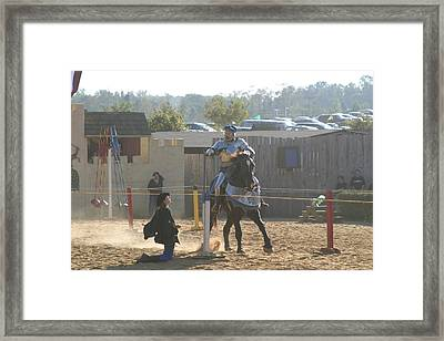 Maryland Renaissance Festival - Jousting And Sword Fighting - 1212159 Framed Print by DC Photographer