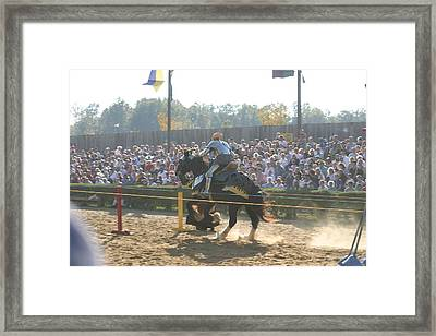 Maryland Renaissance Festival - Jousting And Sword Fighting - 1212161 Framed Print by DC Photographer