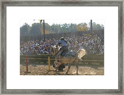 Maryland Renaissance Festival - Jousting And Sword Fighting - 1212167 Framed Print by DC Photographer