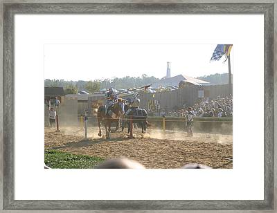 Maryland Renaissance Festival - Jousting And Sword Fighting - 1212195 Framed Print by DC Photographer