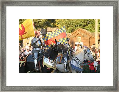 Maryland Renaissance Festival - Jousting And Sword Fighting - 121224 Framed Print by DC Photographer