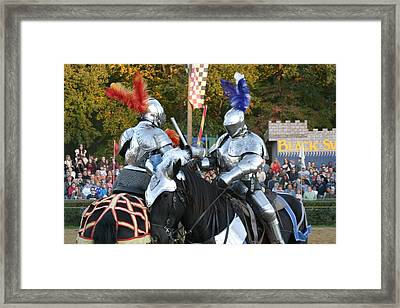 Maryland Renaissance Festival - Jousting And Sword Fighting - 121247 Framed Print by DC Photographer