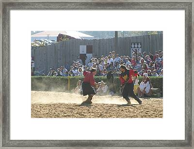 Maryland Renaissance Festival - Jousting And Sword Fighting - 121283 Framed Print by DC Photographer