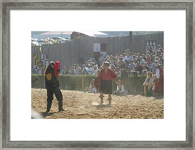 Maryland Renaissance Festival - Jousting And Sword Fighting - 121287 Framed Print by DC Photographer