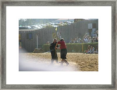 Maryland Renaissance Festival - Jousting And Sword Fighting - 121293 Framed Print by DC Photographer