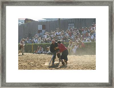 Maryland Renaissance Festival - Jousting And Sword Fighting - 121297 Framed Print by DC Photographer
