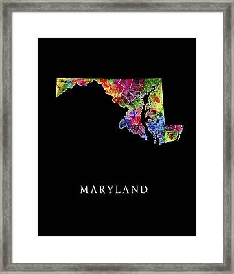 Maryland State Framed Print by Daniel Hagerman