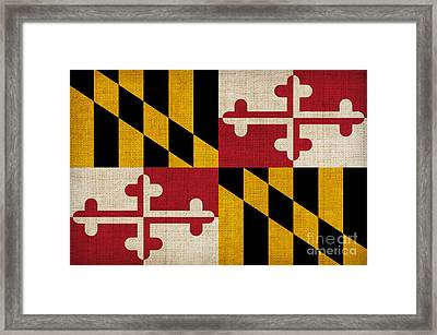Maryland State Flag Framed Print by Pixel Chimp