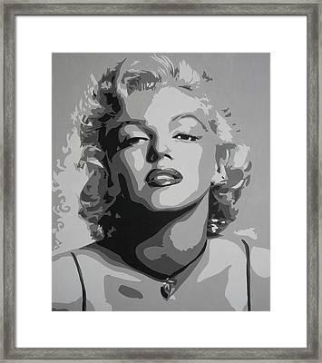 Tribute To Marilyn Monroe Framed Print by Bitten Kari