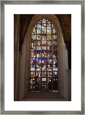 Mary's Deathbed Religious Art In Oude Kerk Framed Print by Artur Bogacki