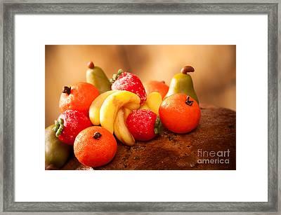 Marzipan Fruits Framed Print by Amanda Elwell