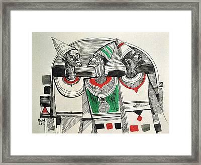 Maseed Maseed 12 Framed Print by Mohamed Fadul