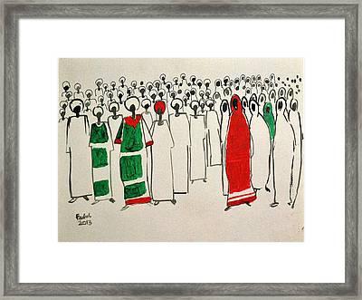 Maseed Maseed 13 Framed Print by Mohamed Fadul
