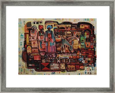 Maseed Maseed 6 Framed Print by Mohamed Fadul