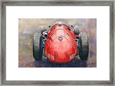 Maserati 250f Back View Framed Print by Yuriy Shevchuk