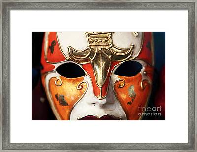 Mask Framed Print by John Rizzuto