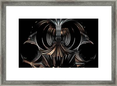 Mask Template Framed Print by Ricky Jarnagin
