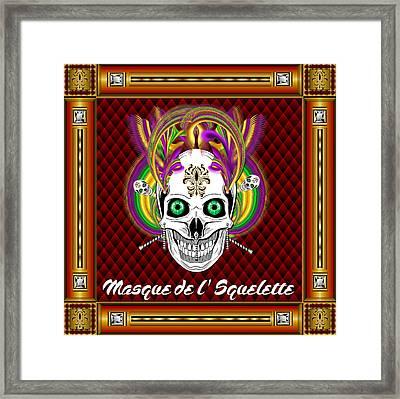 Masque De L' Squelette Vector Sample Framed Print by Bill Campitelle