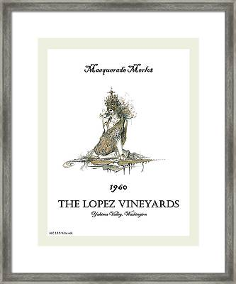 Masquerade Merlot Framed Print by Julio Lopez