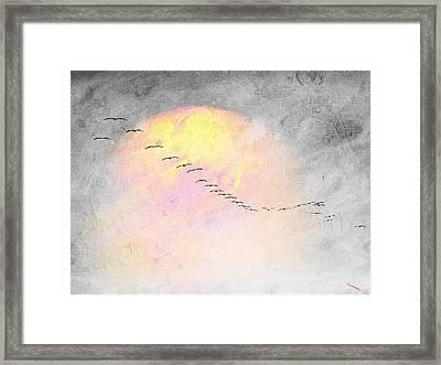 Mass Migration Framed Print by SM Shahrokni