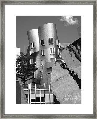 Massachusetts Institute Of Technology Stata Center Framed Print by University Icons