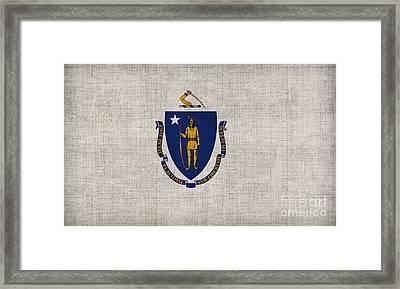 Massachusetts State Flag Framed Print by Pixel Chimp