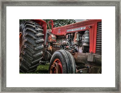 Massey Ferguson Antique Tractor Framed Print by Bill Wakeley