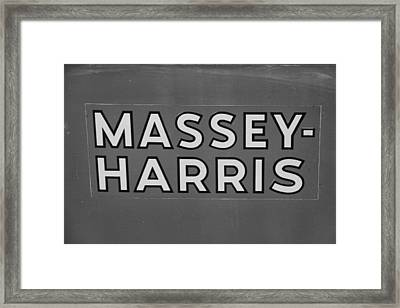 Massey Harris Framed Print by Dan Sproul