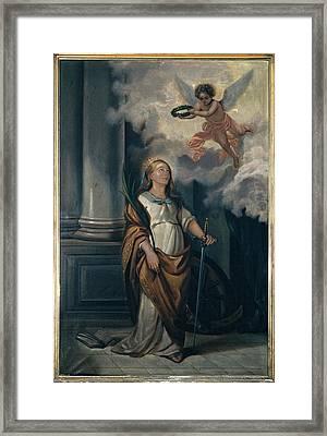 Massimo Diodato, St Catherine Framed Print by Everett