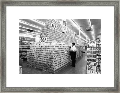 Massive Beer Display Framed Print by Retro Images Archive