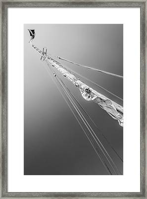Mast And Sail Iv Framed Print by Marco Oliveira
