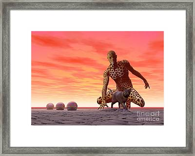Master And Servant - Surrealism Framed Print by Sipo Liimatainen