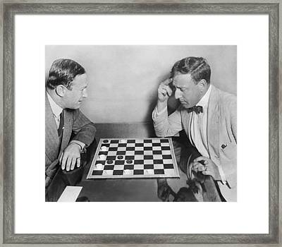 Master Chess Move Framed Print by Underwood Archives