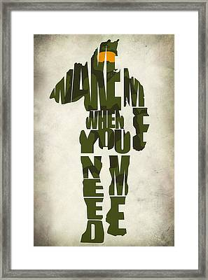 Master Chief Framed Print by Ayse Deniz