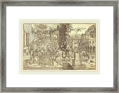 Master Of The Adoration Of The Shepherds German Framed Print by Litz Collection