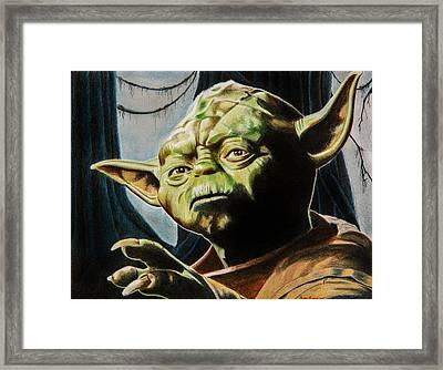 Master Yoda Framed Print by Brian Broadway