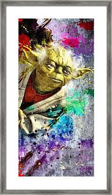 Master Yoda Framed Print by Daniel Janda