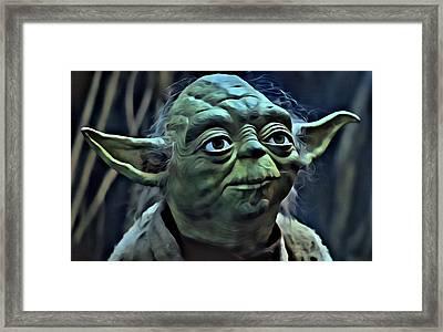 Master Yoda Framed Print by Florian Rodarte