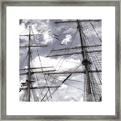 Masts Of Sailing Ships Framed Print by Evie Carrier
