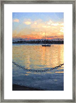 Matanzas Summer Sunrise Framed Print by Stacey Sather