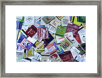 Matchbooks And Matchboxes Framed Print by Paul Ward