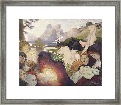 Maternity Framed Print by Charles Maurin
