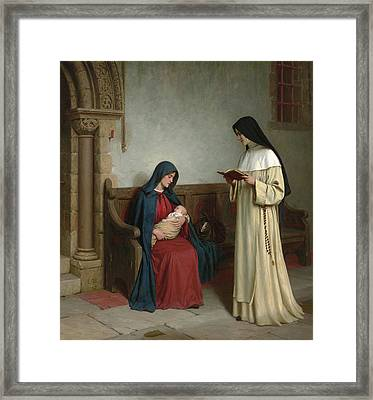 Maternity Framed Print by Edmund Blair Leighton